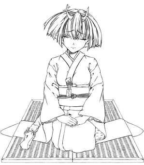 Maki Kashima, Square 2 (line drawing)
