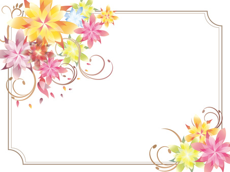 Flower frame horizontal type