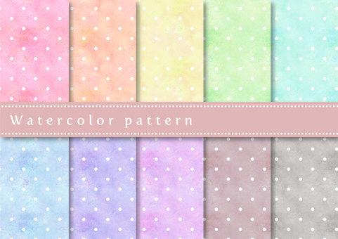 Pattern set 033 watercolor