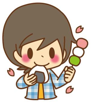 男孩*櫻花觀賞