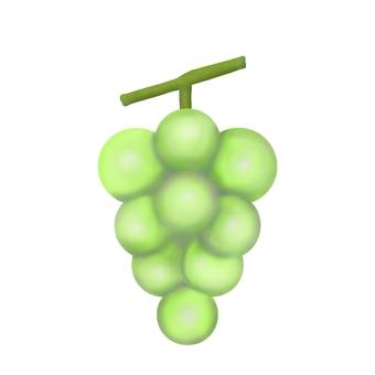 White grape (no outline)