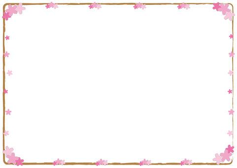 Spring frame (Sakura)