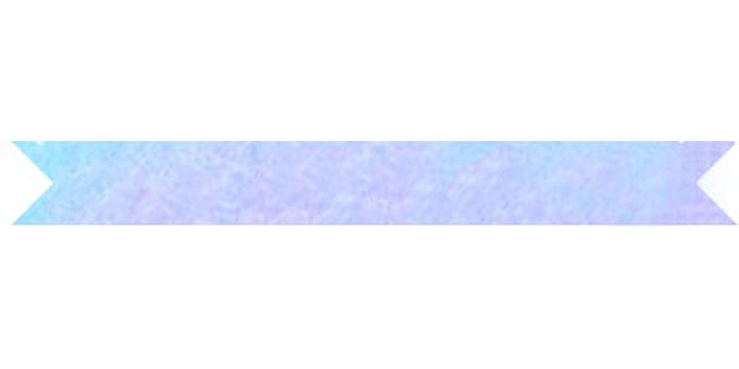 Watercolor frame Ribbon blue