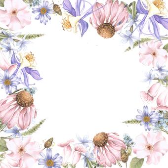 Flower frame collecting perennials - frame
