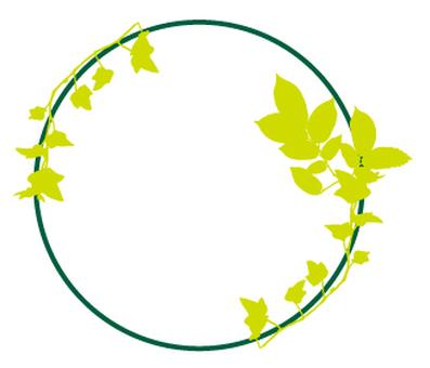Green _ Leaves _ Circle Pattern _ Yellow Green