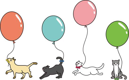Balloons and cats