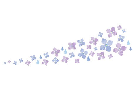 紫陽花の飾り素材
