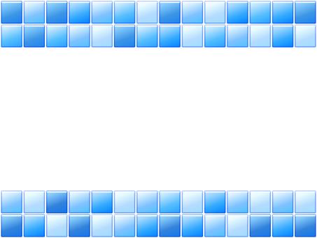 Blue tile frame 2