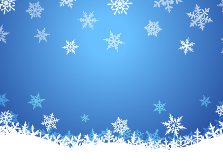 Winter Background · Snow Crystal · Blue