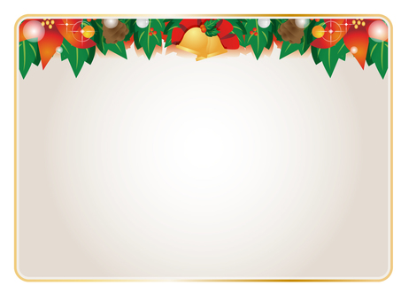 Christmas card decorative frame