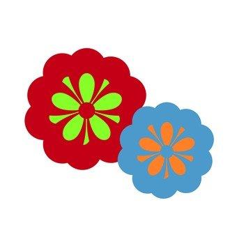 紅色和藍色的花朵1
