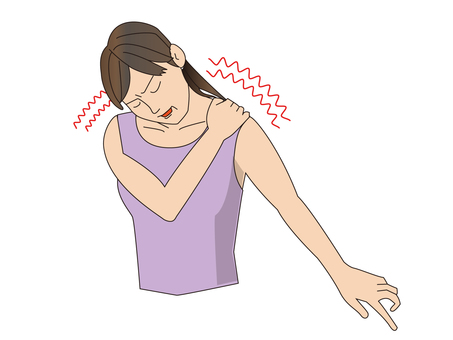 A woman with shoulder ache