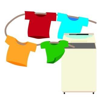 세로 형 세탁기