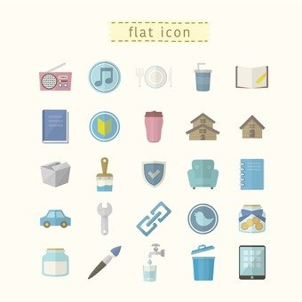 Flat icon illustration