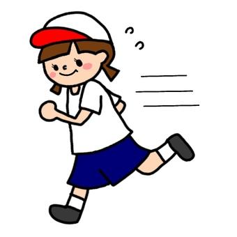 달리는 소녀