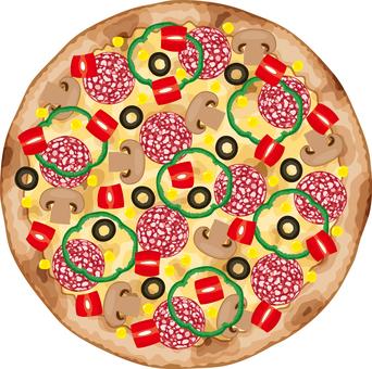 피자 이탈리아 이탈리아 요리