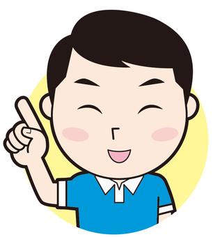 Fingering papa (smile)