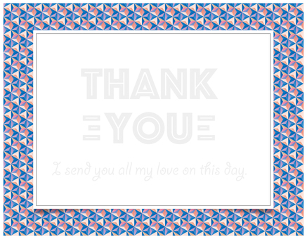 thank you card BLUE