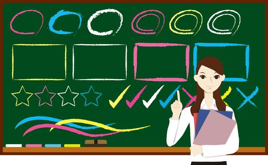 Female teacher Mr. lecturer