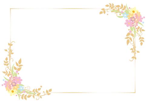 꽃 장식 프레임