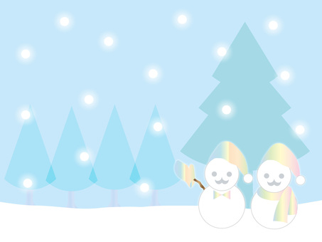 Snow and a snowman