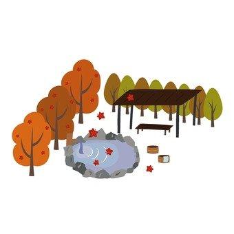 Autumn hot spring