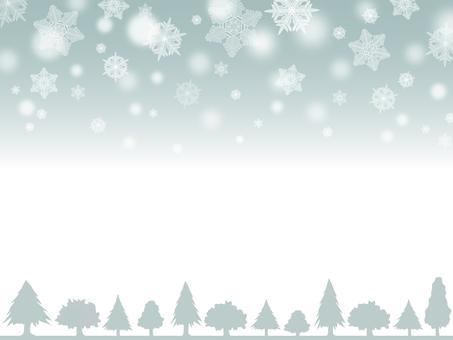 눈과 나무 프레임