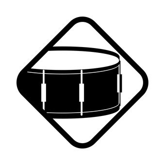 B / W icon of the drum