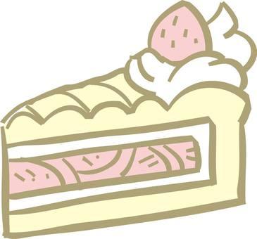 Cake, short cake, salmon