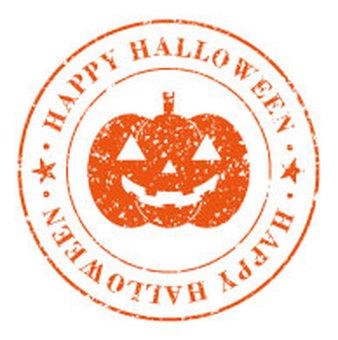 Halloween pumpkin stamp (Orange)
