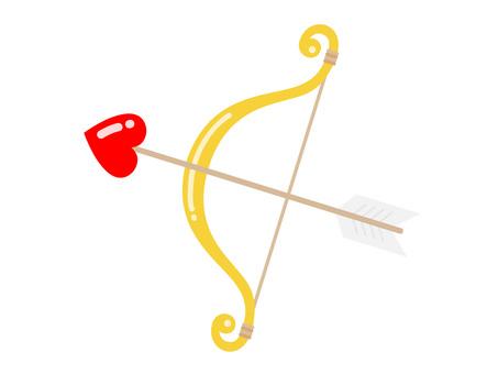 Cupid bow and arrow