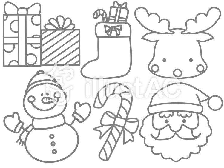 クリスマスぬりえイラスト No 1309509無料イラストならイラストac