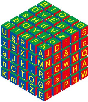 English image cube cube