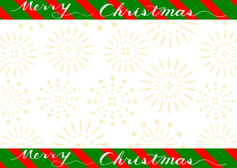 Christmas fireworks frame