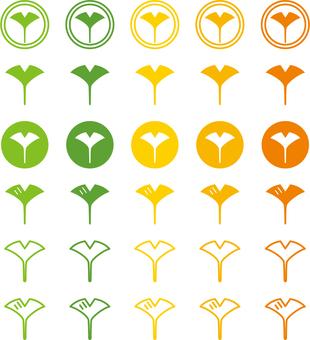 Ginkgo icon set