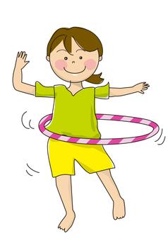 Woman with hula hoop 02