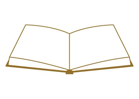 Book material Line drawing Brown