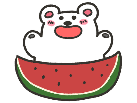 Watermelon and polar bear