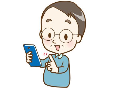 智能手機13(父親用微笑操作)AC