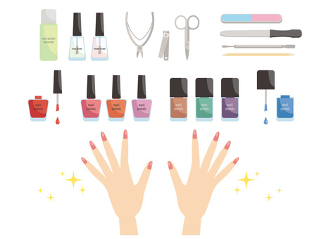 Various nail supplies