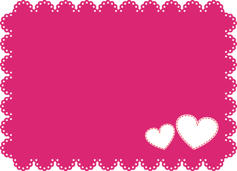 Pink lace frame (with heart)