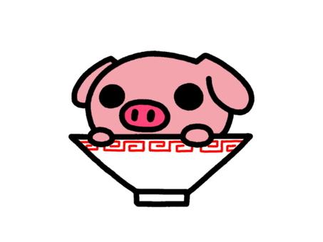 Pork bone ramen pink