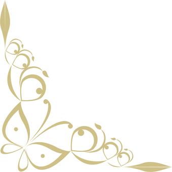 Butterfly decorative frame (gold frame decorative frame 10)