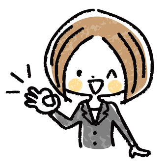 Business woman OK sign