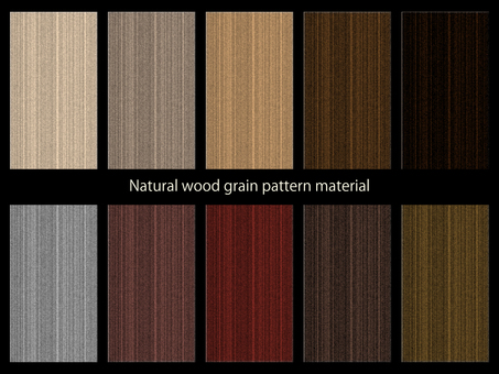 Wood grain pattern material set