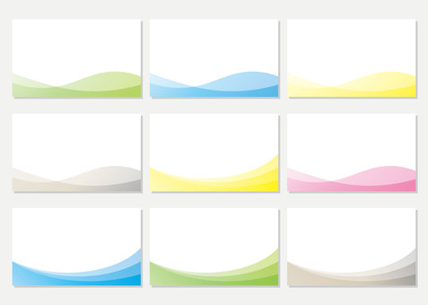 Business card template business colorful