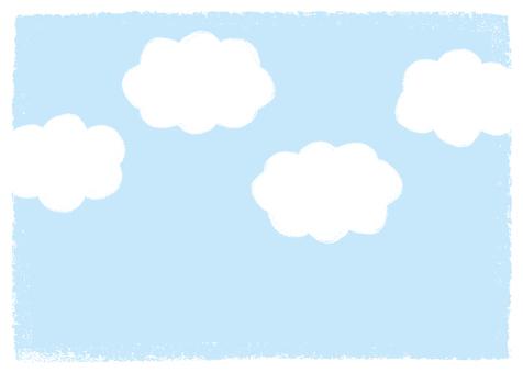 手描き 空 雲