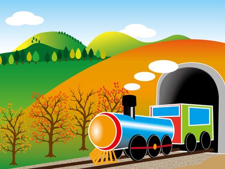 Autumn locomotive 001 in autumn