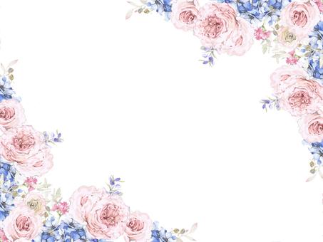 Flower frame 164 - English flower flower frame