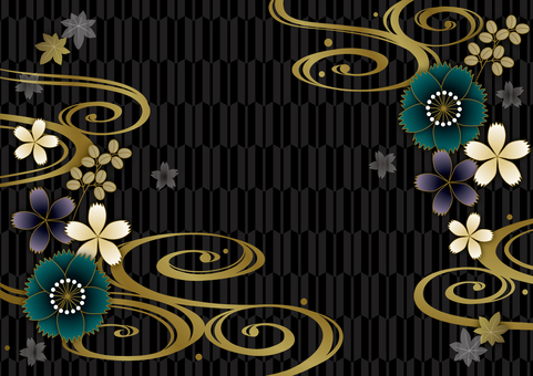 Black and astringent Japanese pattern